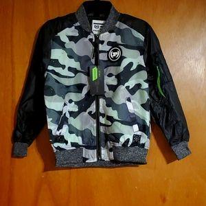 Boys Camo Print Phat Farm Bomber Jacket